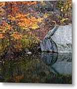 Lincoln Woods Autumn Boulders Metal Print