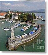 Lindau Harbor Lake Constance Bavaria Germany Metal Print by Matthias Hauser