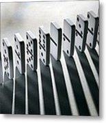 Lined Up Dominoes Metal Print by Victor De Schwanberg