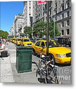 Lined Up For Business Metal Print