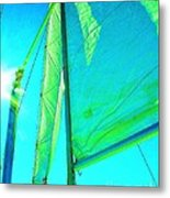 Lines And Sheets Metal Print