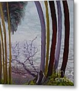 Lines In Nature Metal Print
