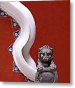 Lion And Bannister Puebla Mexico Metal Print