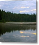Lion Lake Montana Sunrise Metal Print