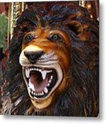 Lion Merry Go Round Animal Metal Print