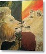 Lion N Lionness Metal Print