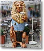 Lion Of Beer Metal Print