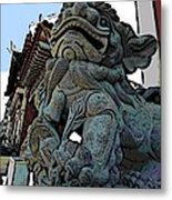 Lion Of Buddha Metal Print