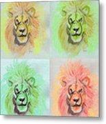 Lion X 4  Metal Print
