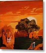 Lions Love Life Metal Print