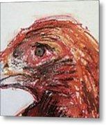 Lipstick Eagle Metal Print by Iris Gill