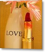 Lipstick Love Metal Print