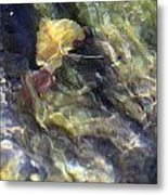 Liquid Leaves 2 Metal Print