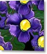 Liquid Violets Metal Print