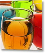 Liquor Glasses Metal Print