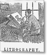 Lithography, 19th Century Metal Print