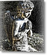 Little Angel Statue Metal Print