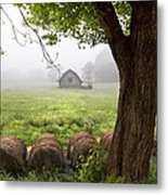 Little Barn Metal Print by Debra and Dave Vanderlaan