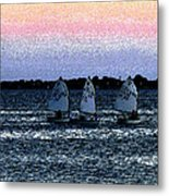 Little Boats Metal Print