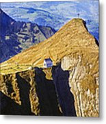 Little Chapel On The Mountain Metal Print by George Oze