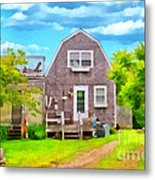Little Cottage By The Sea Metal Print