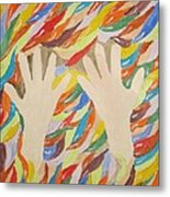 Little Creative  Hands Metal Print