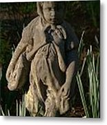 Little Girl Turned To Stone Metal Print