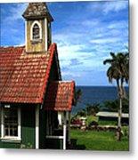 Little Green Church In Hawaii Metal Print