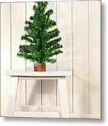 Little Green Fir Tree Metal Print