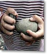 Little Hands Of Stone Metal Print