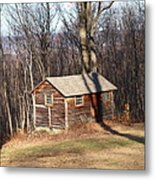 Little House In The Woods Metal Print