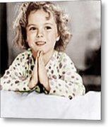 Little Miss Marker, Shirley Temple, 1934 Metal Print