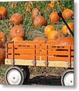 Little Orange Wagon Metal Print