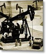 Little Pumpjacks Metal Print by Ricky Barnard