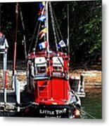 Little Red Boat Metal Print