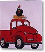 Little Red Coop Metal Print