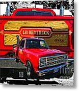 Little Red Express Dbl Hdr Metal Print