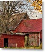 Little Red Farm Metal Print