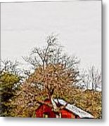 Little Red Shanty - No. 351 Metal Print