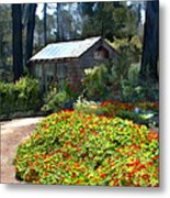 Little Rustic Cabin In A Clearing In The Woods Metal Print