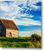 Little Shed On The Prairie Metal Print