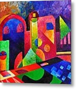 Little Village By Sandralira Metal Print