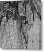 Little White Dresses Metal Print by Anna Villarreal Garbis