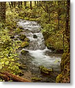 Little Zig Zag Stream Metal Print
