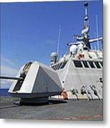 Littoral Combat Ship Uss Freedom Metal Print by Stocktrek Images