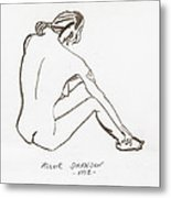 Live Nude Female No. 33 Metal Print