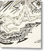 Live Nude Female No. 35 Metal Print