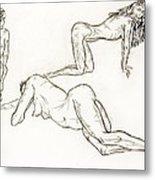 Live Nude Female No. 37 Metal Print