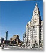 Liverpool Skyline Metal Print