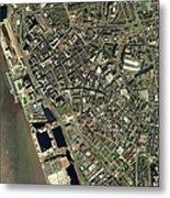 Liverpool, Uk, Aerial Image Metal Print